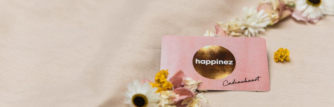 Wie verras jij met een unieke Happinez cadeaukaart?