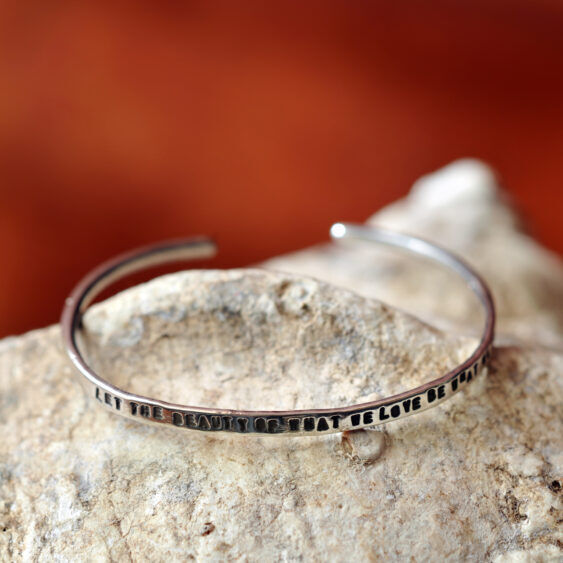 zilveren armband levensmotto