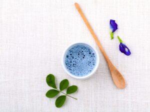blauwe matcha