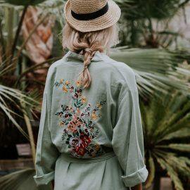 Kimono Flowerpower Sea Green