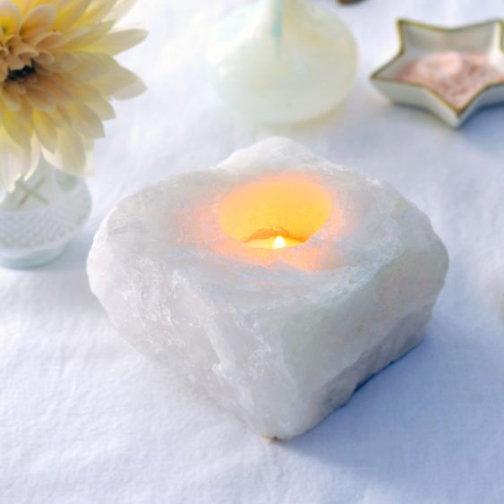 waxinelichthouder bergkristal