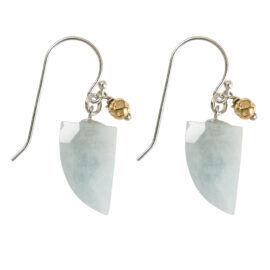 Aquamarijn oorbellen
