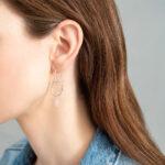 Rozenkwarts Graceful oorbellen