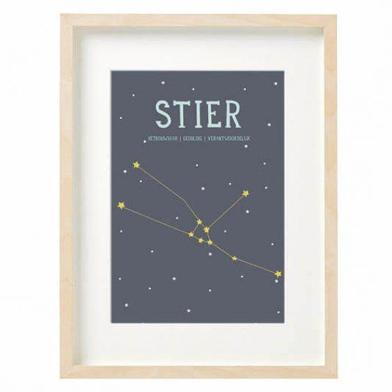 Sterrenbeeld poster Stier