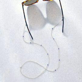 Lapis lazuli brillenkoord