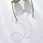 Lapis lazuli brillenkoord zilver
