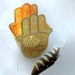 Waxinelichthouder Hand van Fatima