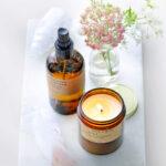 Natuurlijke geurkaars en huisparfum