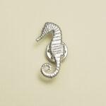 Broche zeepaard zilver