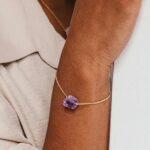 Amethist armband Magic verguld