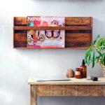 Tijdschriftenrek recyled hout